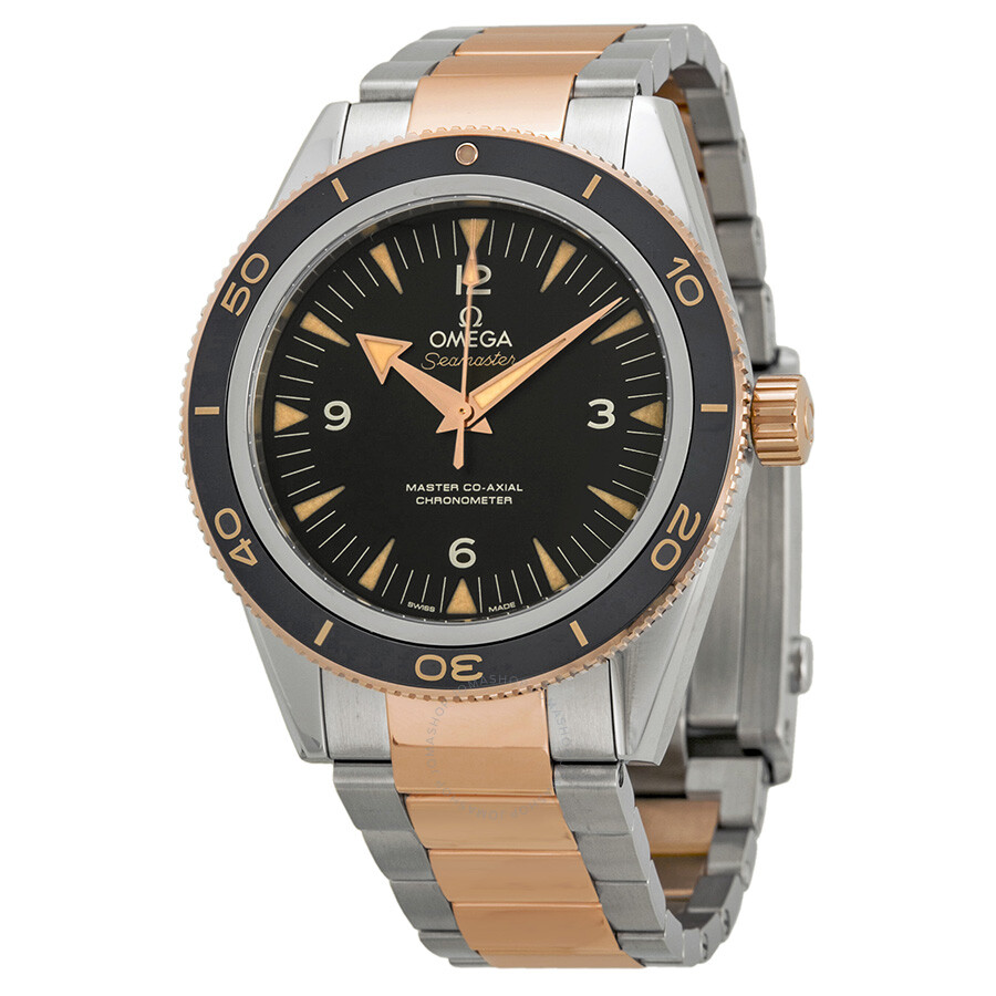 Omega Seamaster 300 Automatic Black Dial Stainless Steel and 18kt Rose Gold  Men s Watch 233.20. 07cd18318c