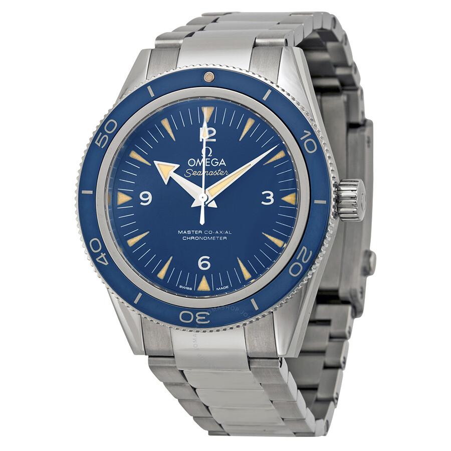 Omega Seamaster 300 Master Co-Axial Blue Dial Titanium Men s Watch  23390412103001 ... 421462a28a13