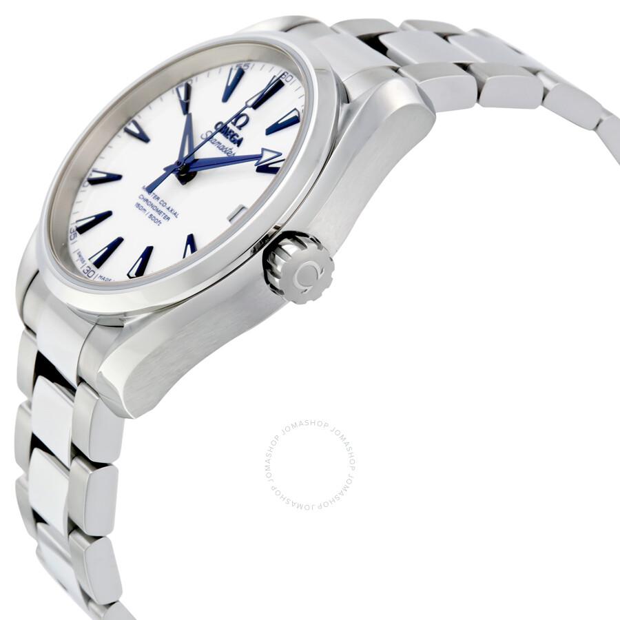 Omega Seamaster Aqua Terra White Dial Stainless Steel