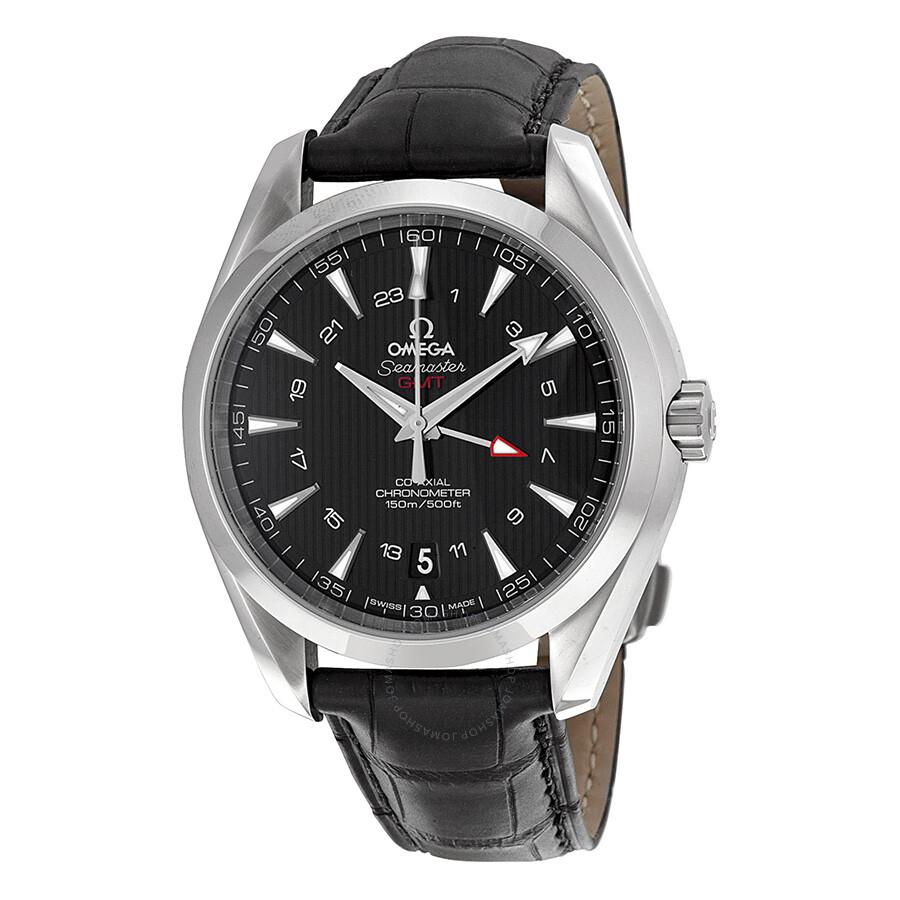 Omega seamaster aqua terra black dial gmt men 39 s watch 23113432201001 seamaster aqua terra for Omega watch seamaster