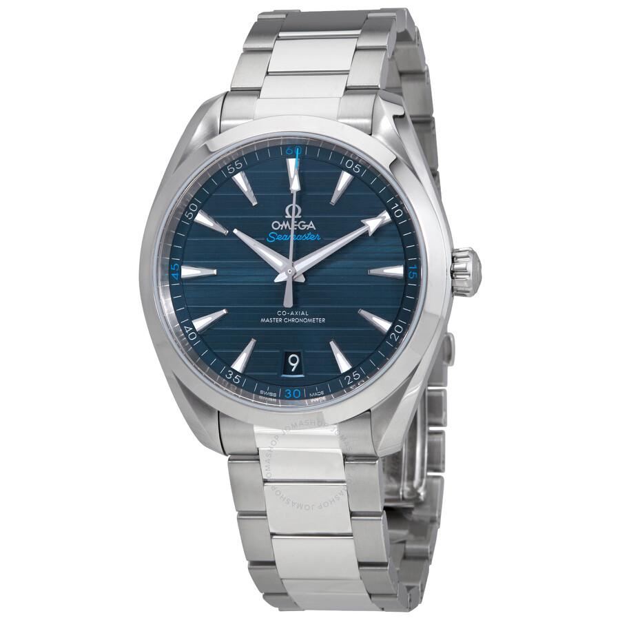 ac963fd6de9cc Omega Seamaster Aqua Terra Automatic Blue Dial Men s Watch  220.10.41.21.03.001 ...