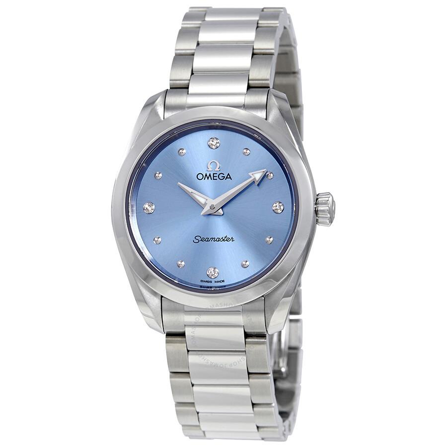 Seamaster Aqua Terra Blue Diamond Dial Ladies Watch 220.10.28.60.53.001