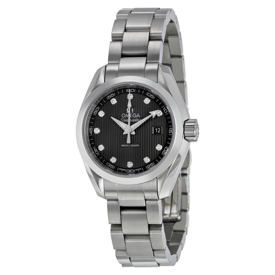 Omega Seamaster Aqua Terra Diamond Dark Grey Dial Ladies Watch  231.10.30.60.56.001 ... 5cd91d13e8
