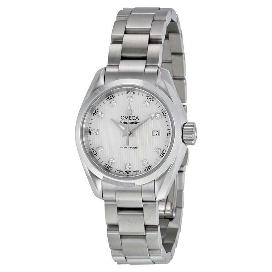 Omega Seamaster Aqua Terra Diamond Mother of Pearl Dial Ladies Watch  231.10.30.60.55.001 ...