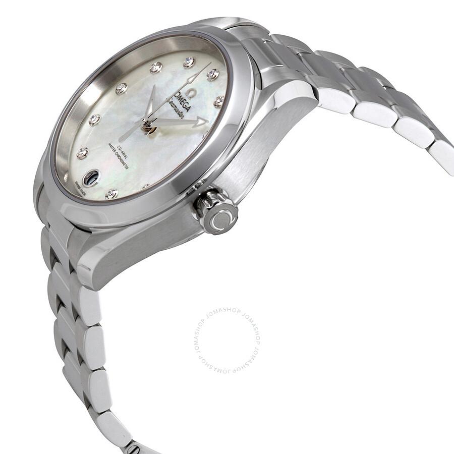 Seamaster Aqua Terra Mother of Pearl Dial Ladies Watch 220.10.34.20.55.001