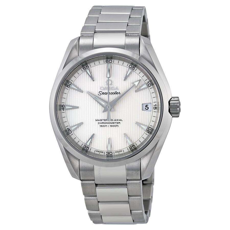 Omega Seamaster Aqua Terra Silver Dial Men S Watch
