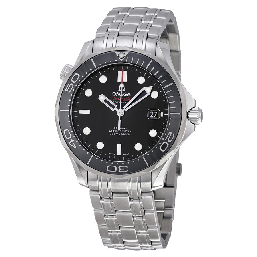 Omega Seamaster Professional Automatic Black Dial Men's ...