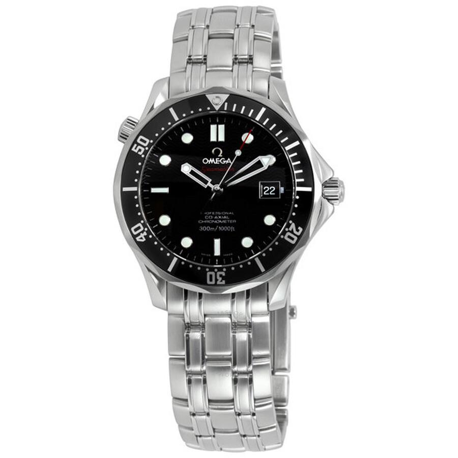 4c9f16449c7 Omega Seamaster James Bond 007 Black Dial Men s Watch 212.30.41.20.01.002  ...