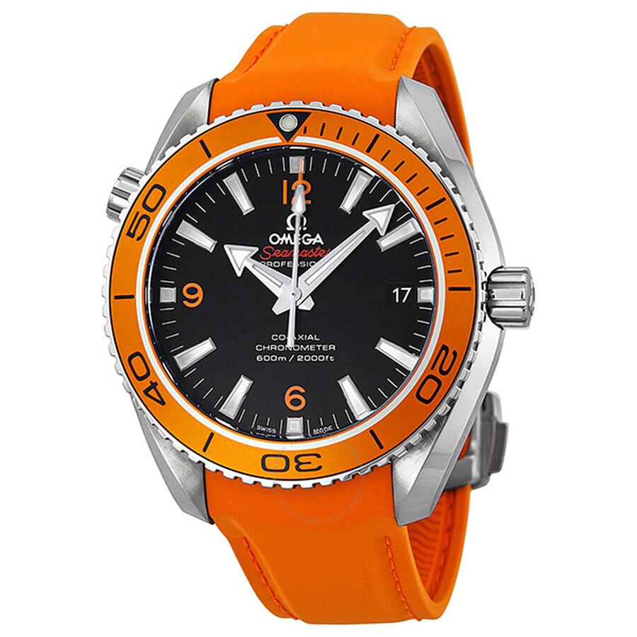 omega seamaster planet ocean automatic black dial orange rubber omega seamaster planet ocean automatic black dial orange rubber men s watch 23232422101001