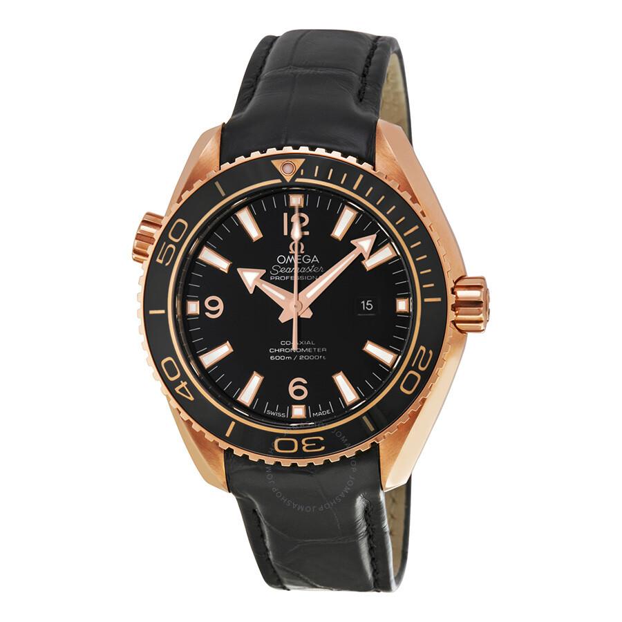 78ab65deba5e Omega Seamaster Planet Ocean Black Dial Black Leather Mid size Watch  23263382001001 ...