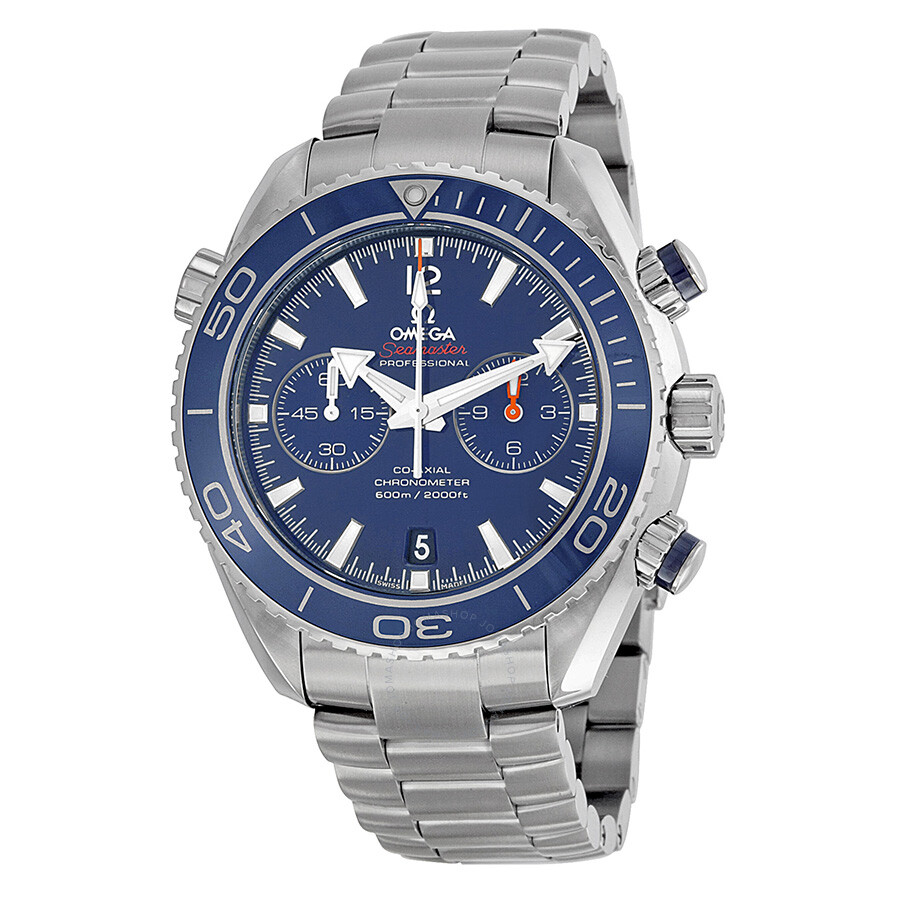 7d7f67d66 Omega Seamaster Planet Ocean Titanium 600M Chronograph Automatic Blue Dial  Men's Watch 232.90.46.51.