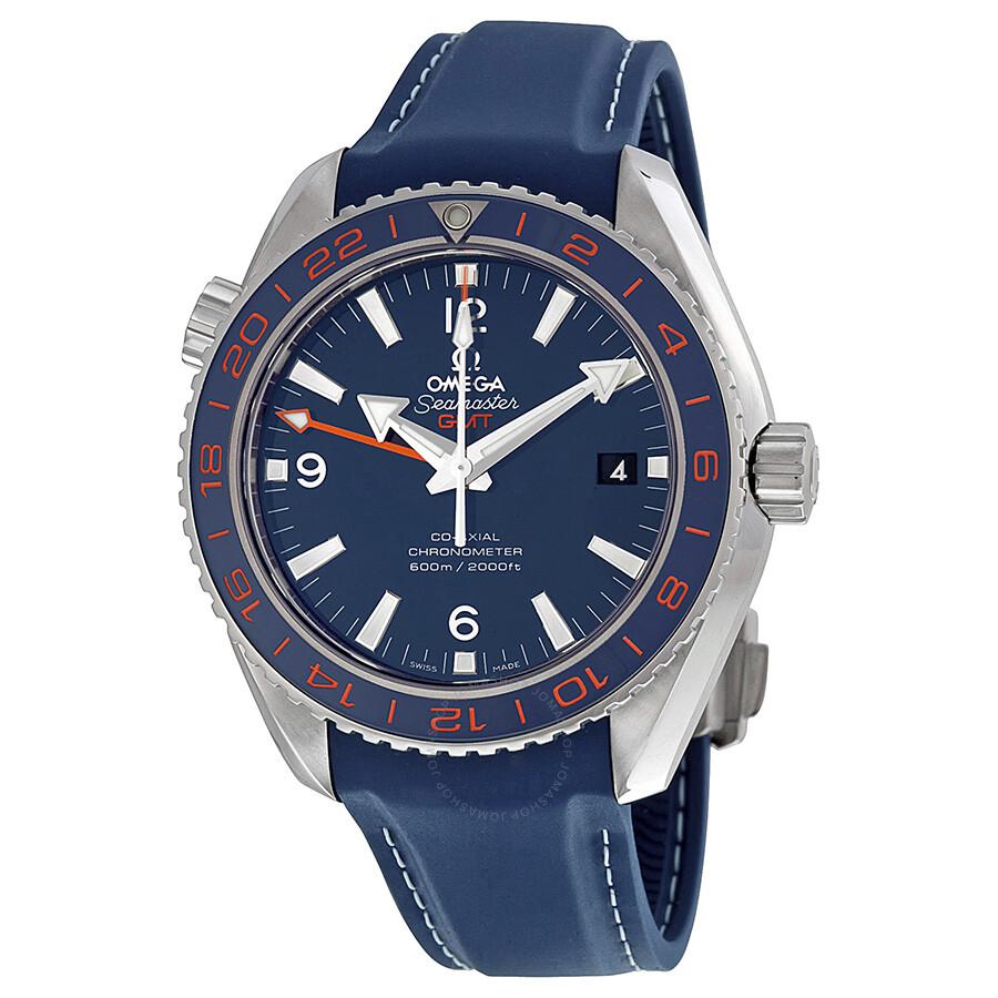Omega Seamaster Planet Ocean GMT Blue Dial Men s Watch 23232442203001 ... 48de0670e354