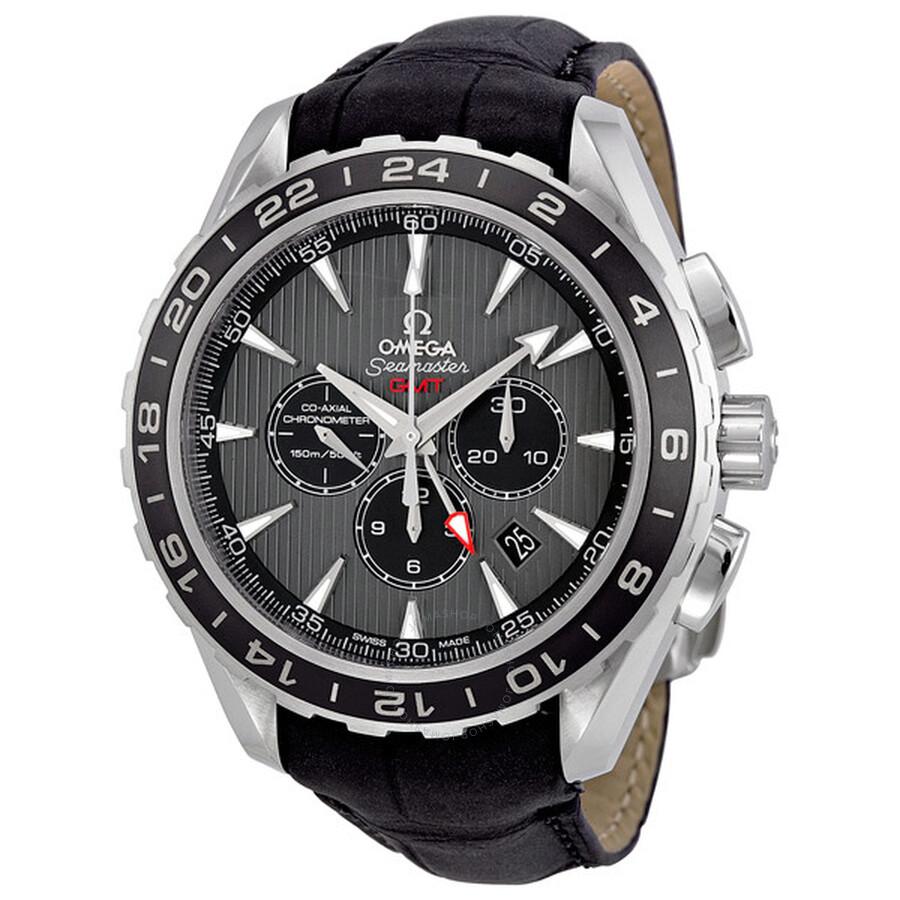 Omega Seamaster Teak Grey Dial GMT Chronograph Black ...