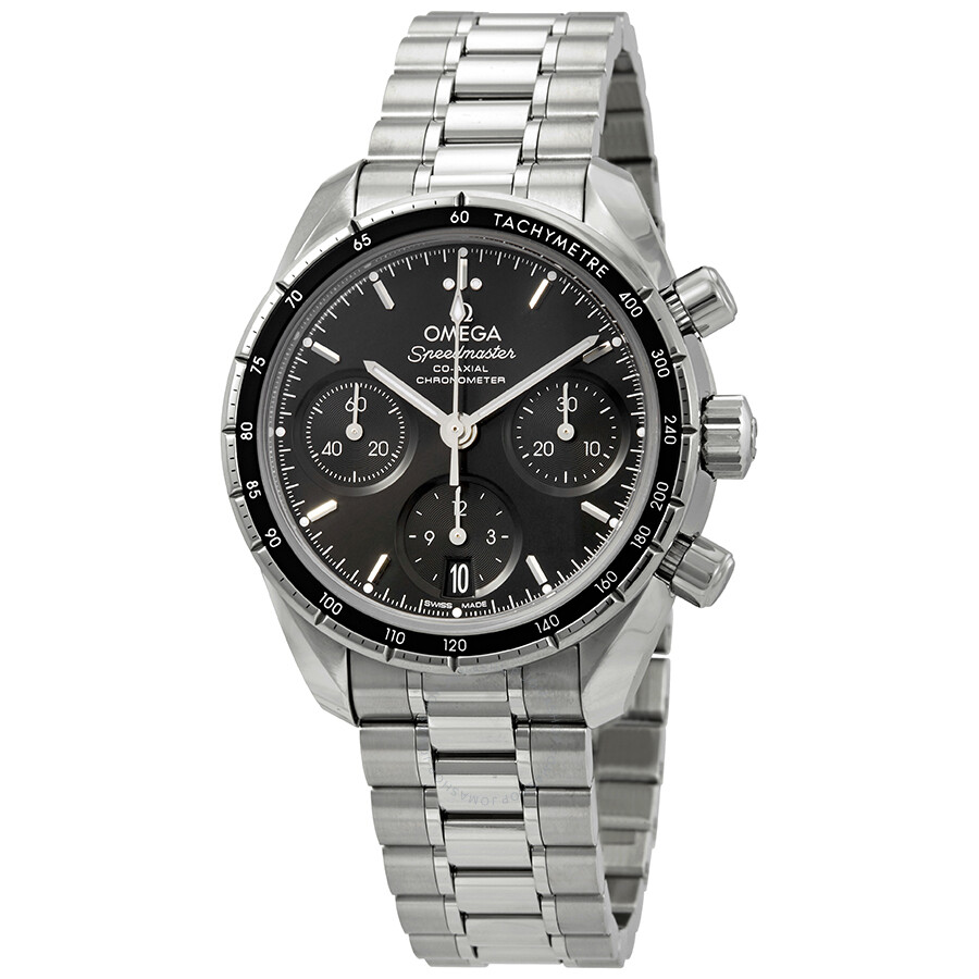 Omega speedmaster chronograph automatic black dial men 39 s watch speedmaster for Omega watch speedmaster
