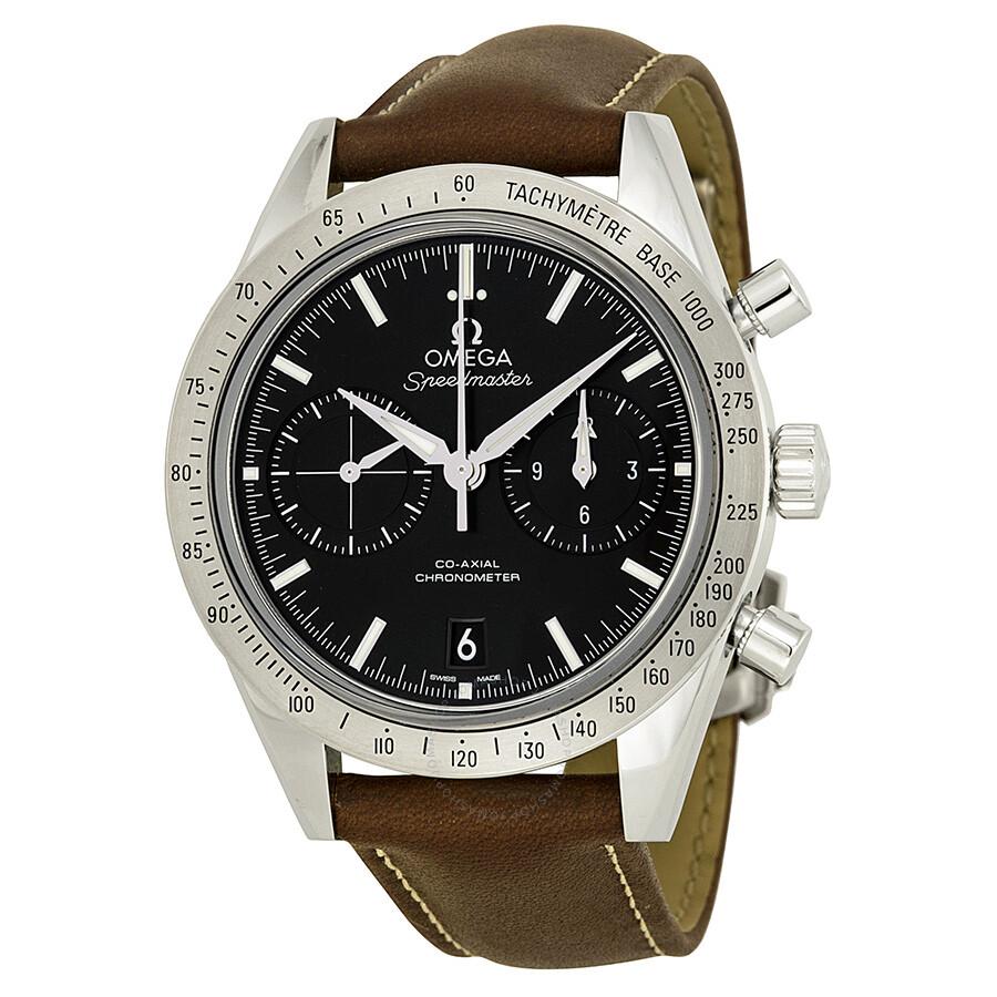 Omega speedmaster chronograph black dial automatic men 39 s watch 33112425101001 speedmaster for Omega watch speedmaster