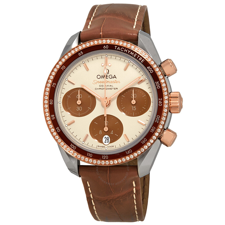 Speedmaster Chronograph Stainless Steel & Rose Gold Diamond Ladies Watch 324.28.38.50.02.002