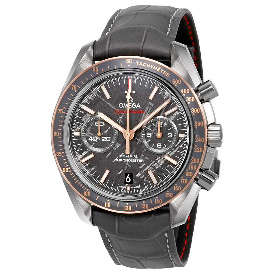 Omega speedmaster grey side of the moon meteorite chronograph titanium deployment watch for Omega watch speedmaster