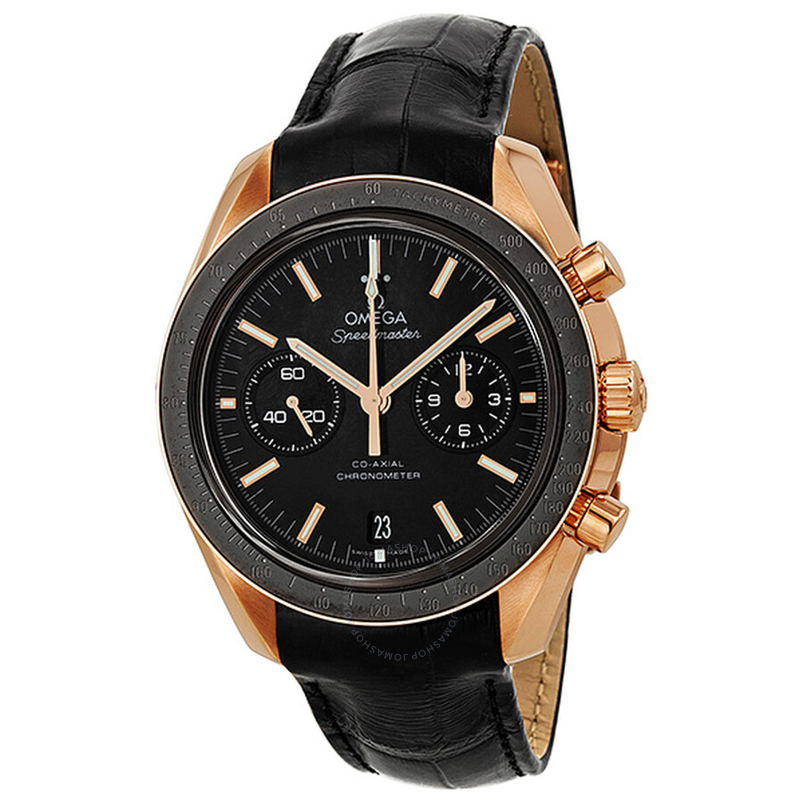 Omega Speedmaster Moonwatch Black Dial Chronograph 18kt Rose Gold