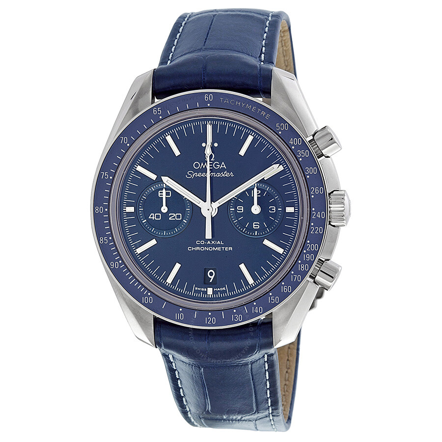 Omega Speedmaster Moonwatch Blue Dial Chronograph Men's ...