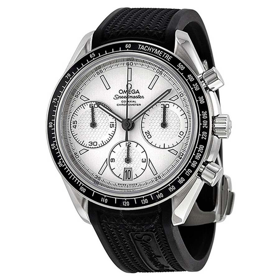 Omega Speedmaster Racing Automatic Chronograph Silver Dial Stainless Steel Mens Watch