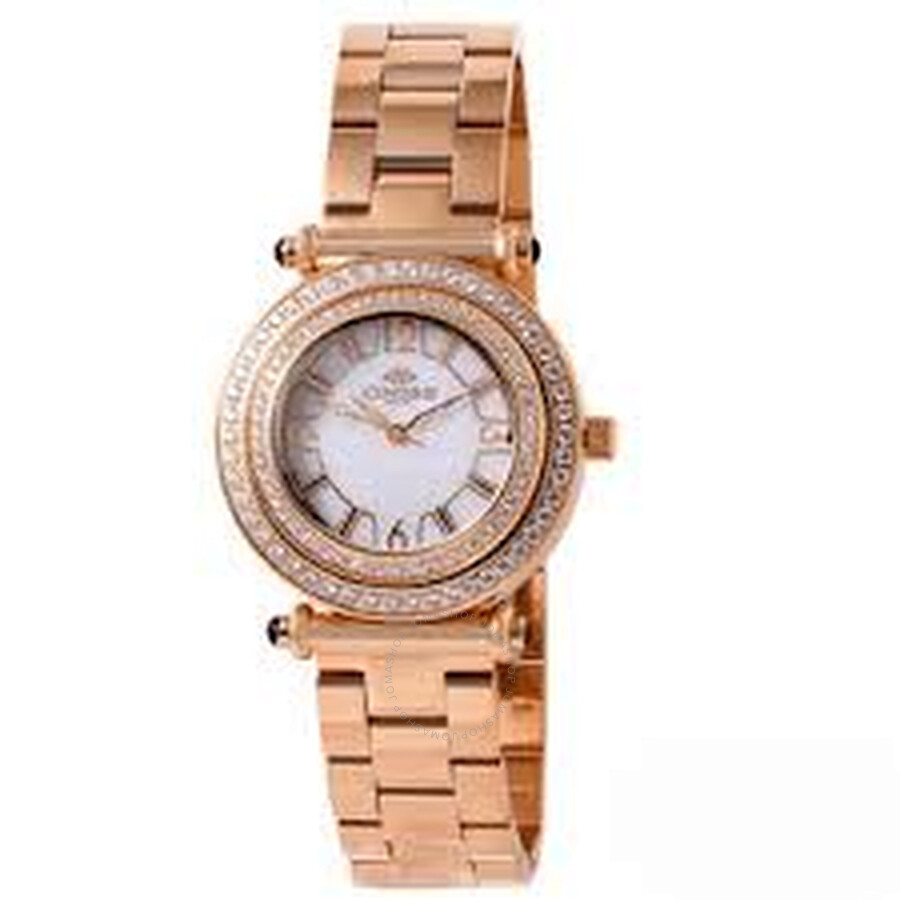 Bello White Dial Rose Gold tone Stainless Steel Ladies Watch on8182-LRG/WTC