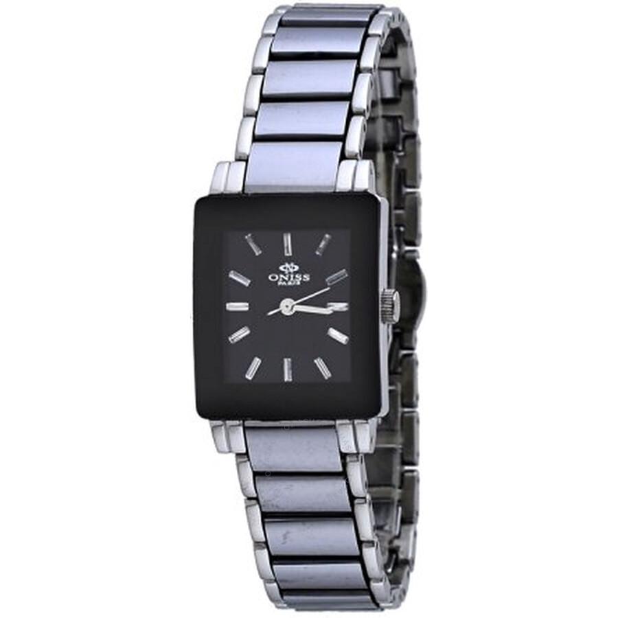 Black Dial Stainless Steel Ladies Watch ON607-LPV