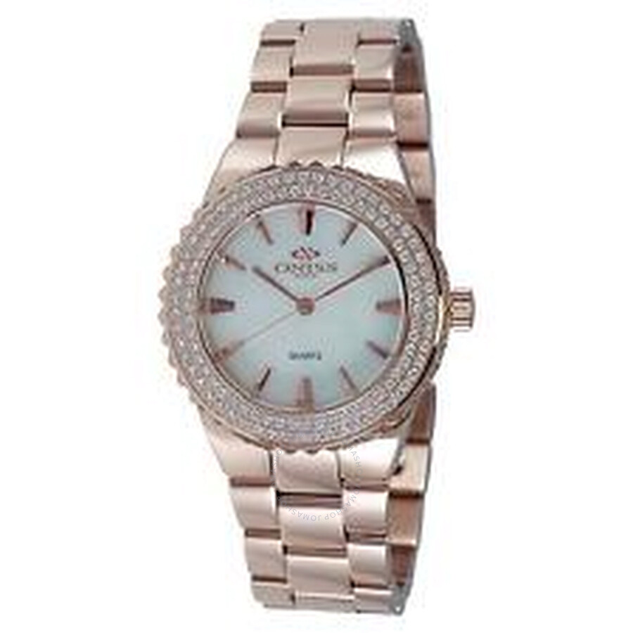 Magnifico White Dial Rose Gold tone Ladies Watch ON8181-LRG/W/WT-C