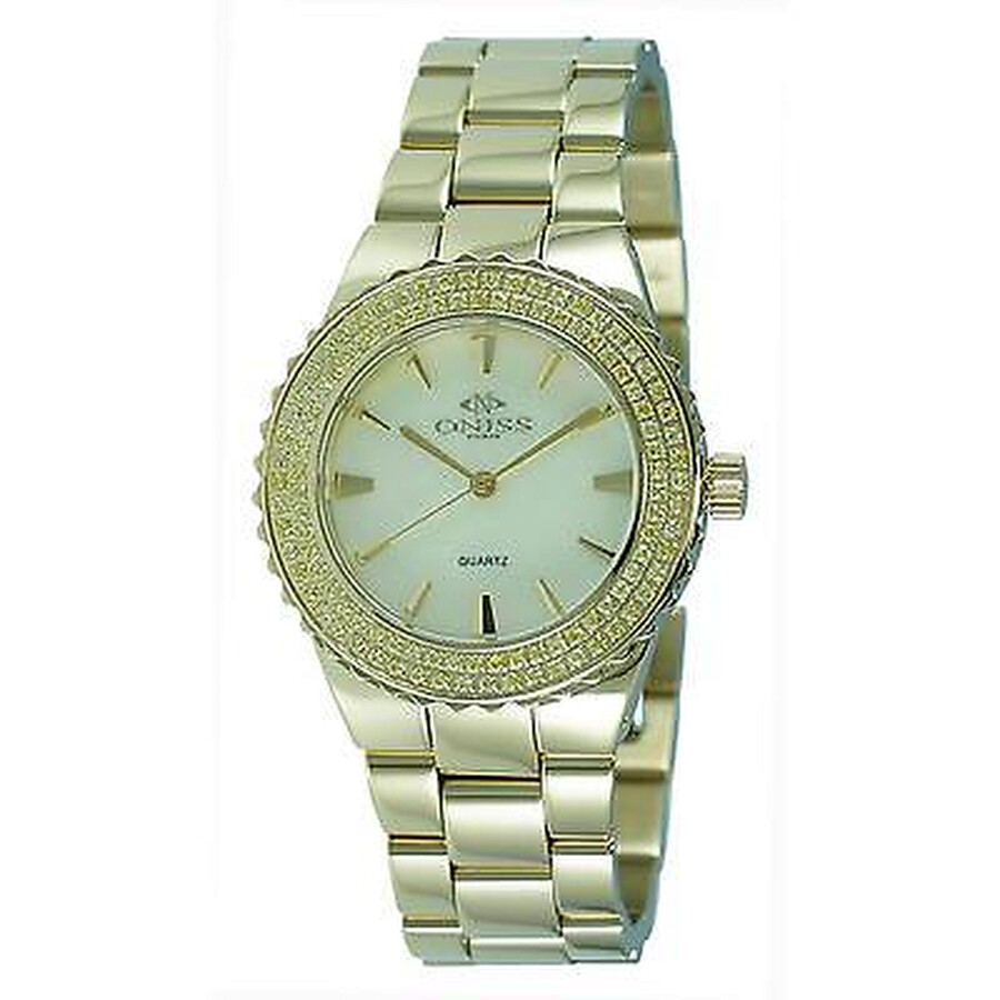 Magnifico Yellow Dial Gold Tone Stainless Steel Ladies Watch ON8181-LG/Y/Y-C