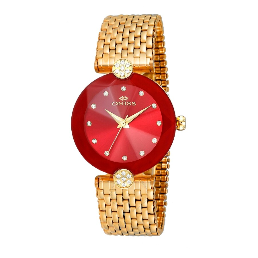 ON8777S Red Dial Ladies Watch ONJ8777-0LGRD