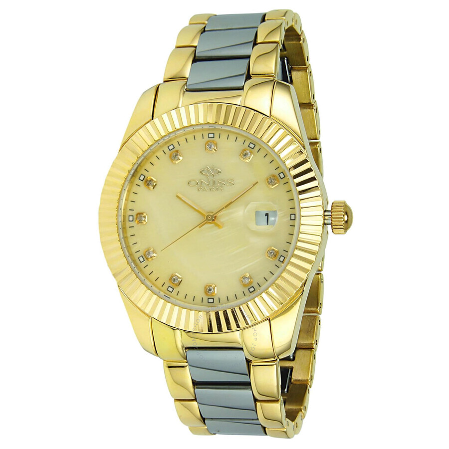 Ridge Gold-Tone Steel and Tungsten Ladies Watch ON6019-LG