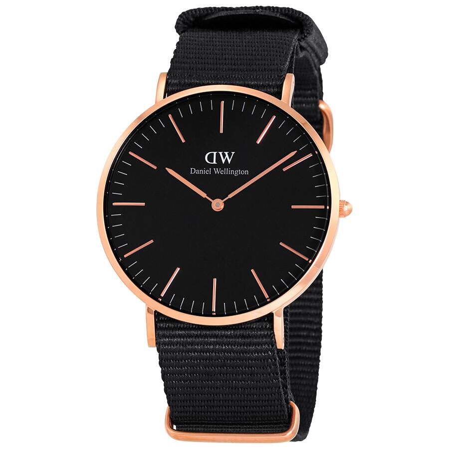 f456ac5de4b06e Open Box - Daniel Wellington Classic Black Cornwall Watch DW00100148 ...