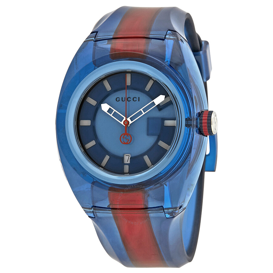 4c646264099 Open Box - Gucci Sync XL Blue Dial Men s Two Tone Watch YA137112 ...