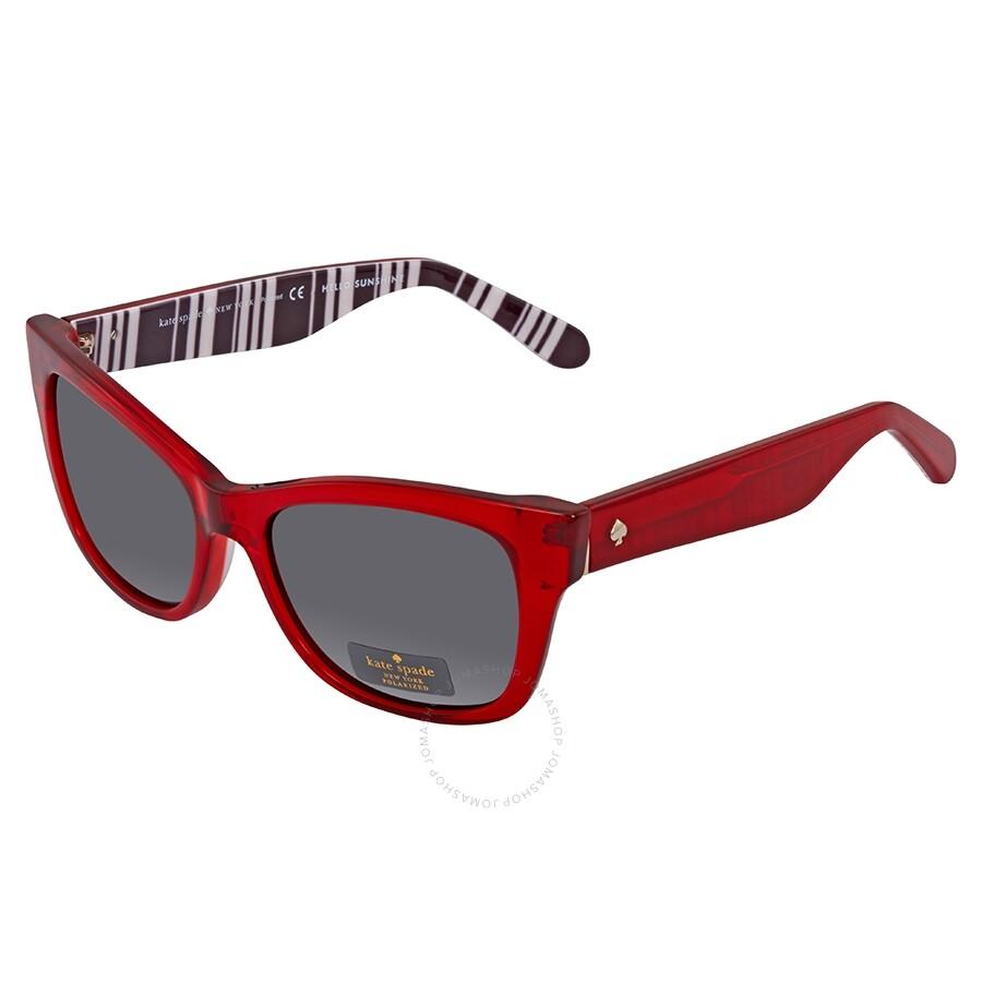 Open Box - Kate Spade Alora Gray Rectangular Ladies Sunglasses ALORA/P/S  QHH 53