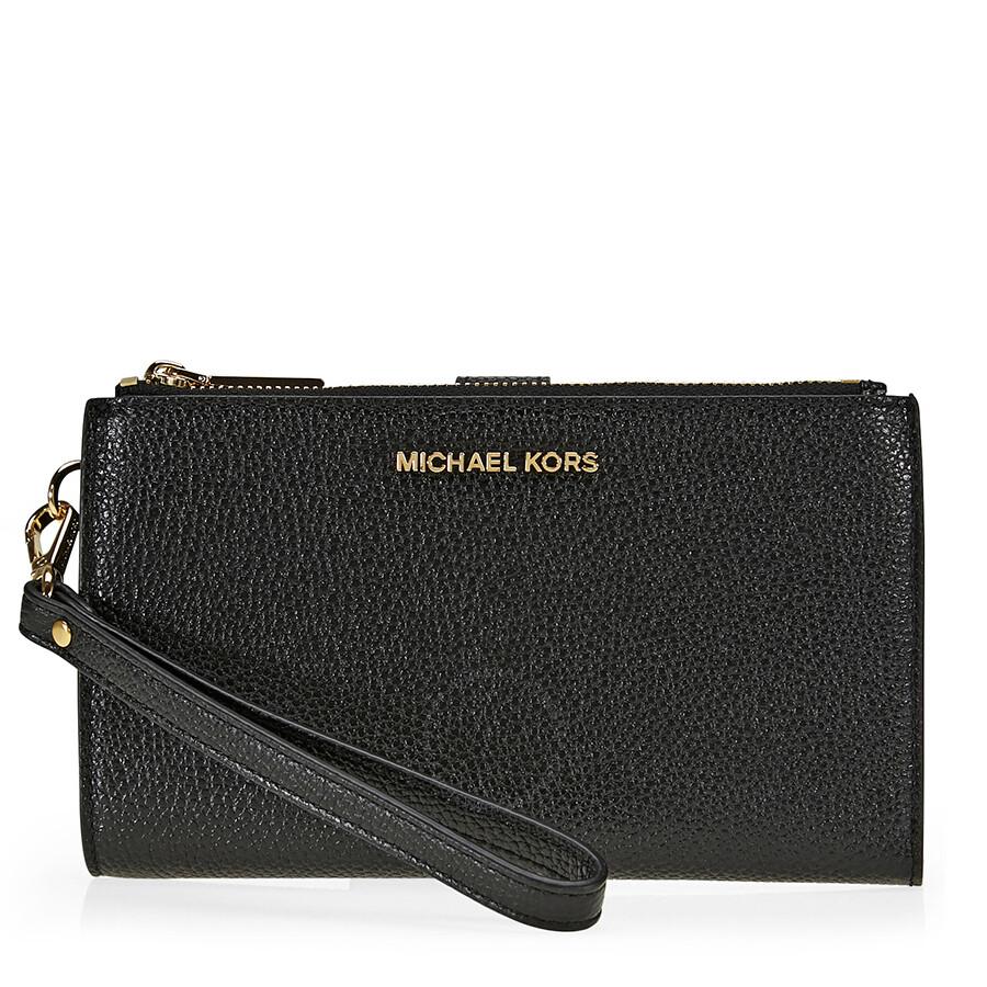 68374f890d25 Open Box - Michael Kors Adele Smartphone Wristlet - Black - Handbags ...