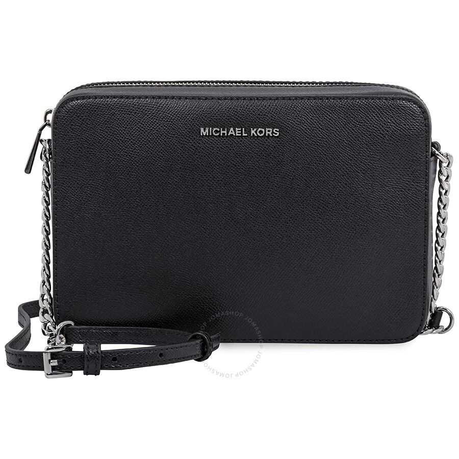 32d4f61f1 Open Box - Michael Kors Jet Set Travel Large Pebbled Leather Crossbody-  Black