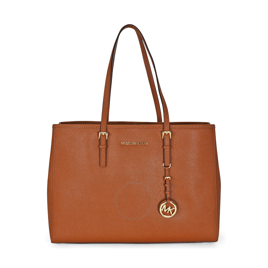 68278cb0fa9e Open Box - Michael Kors Jet Set Travel Tote Large Tote in Luggage - Tan