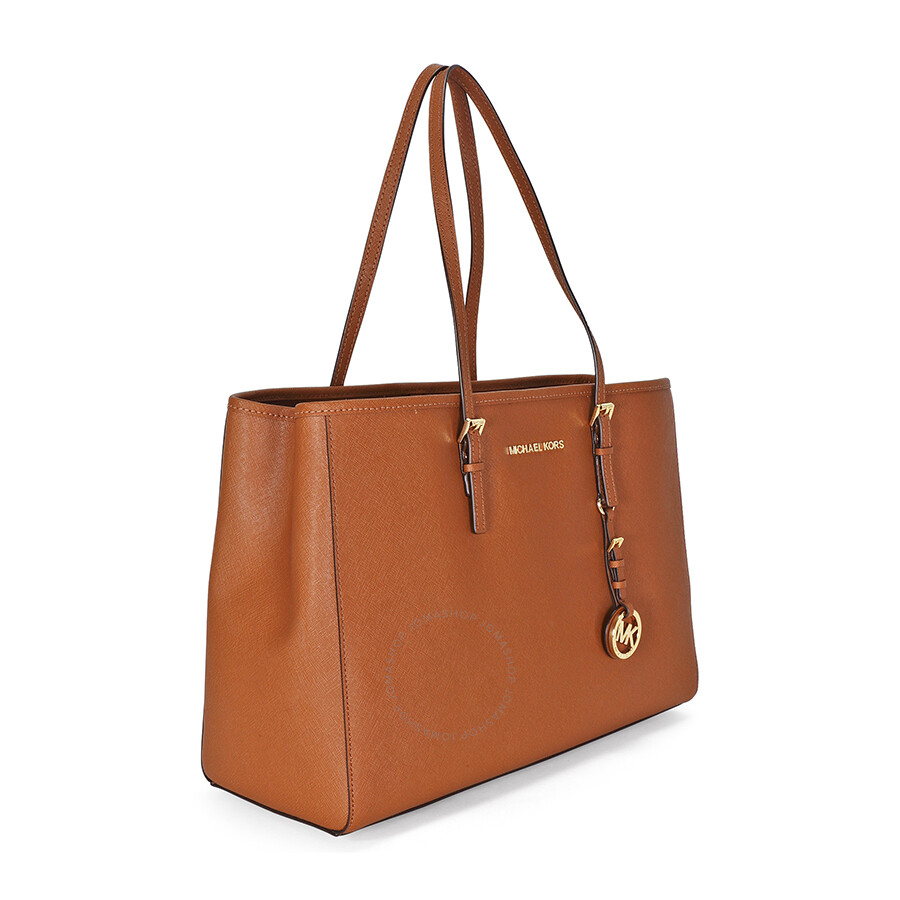 c892194f0d6156 Open Box - Michael Kors Jet Set Travel Tote Large Tote in Luggage - Tan