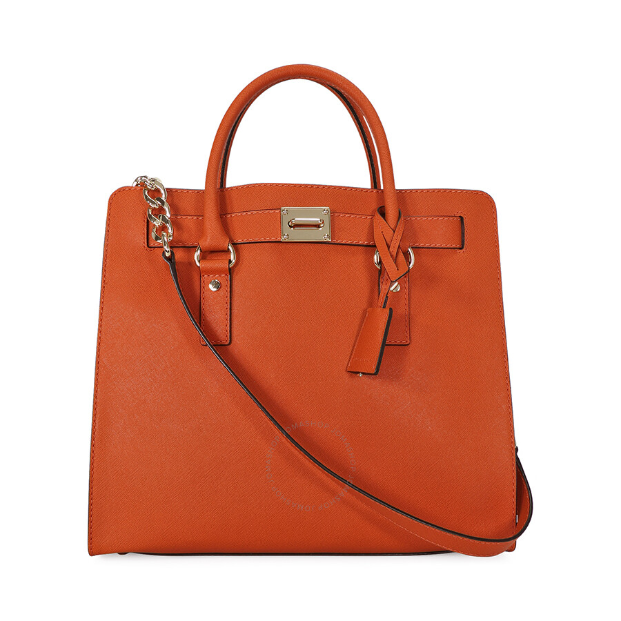 b96af9e8bce8 Open Box - Michael Kors Large Hamilton Saffiano Tote - Orange ...