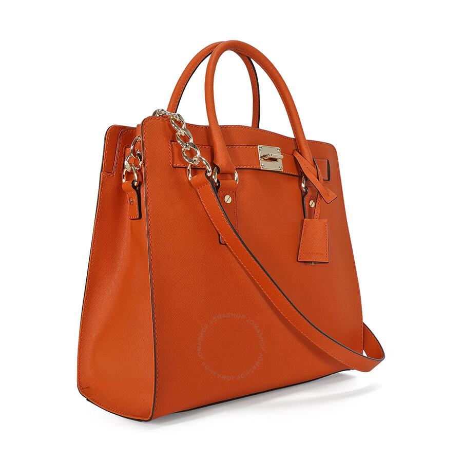 3770fd35616a Open Box - Michael Kors Large Hamilton Saffiano Tote - Orange ...