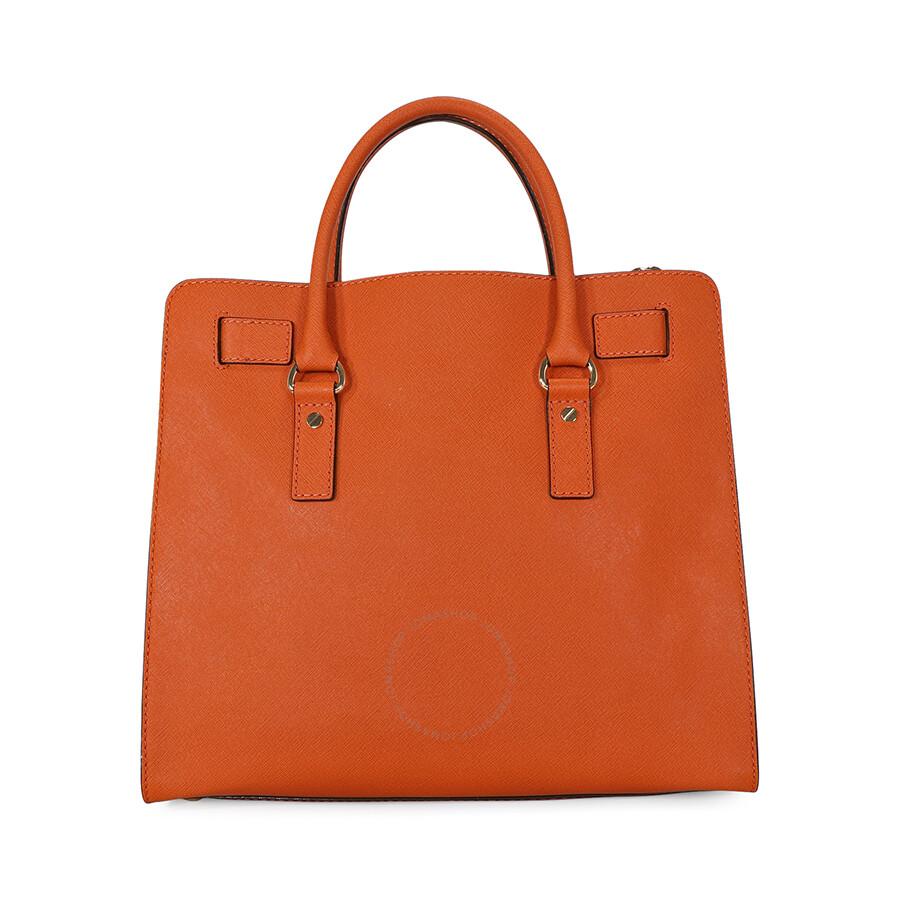 Open Box - Michael Kors Large Hamilton Saffiano Tote - Orange ... 9b94df1eff6f7