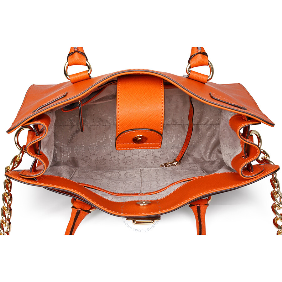 e815c575638c Open Box - Michael Kors Large Hamilton Saffiano Tote - Orange ...