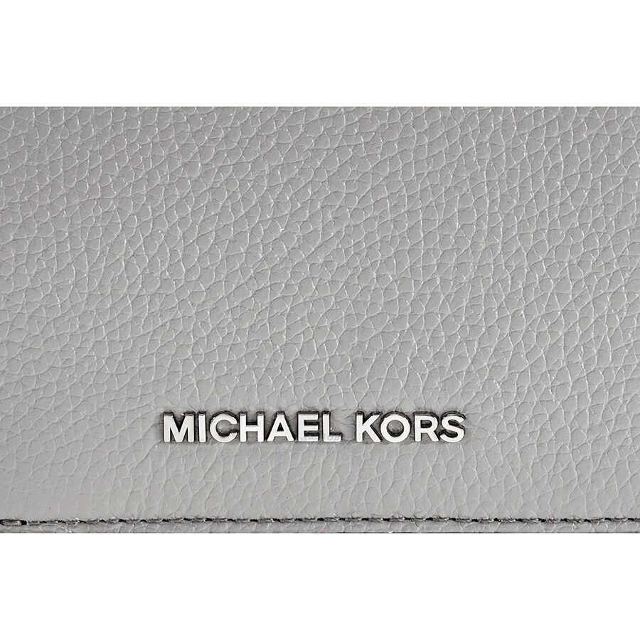 c68ab1fccae1 Open Box - Michael Kors Mercer Flap Card Holder - Pearl Grey ...