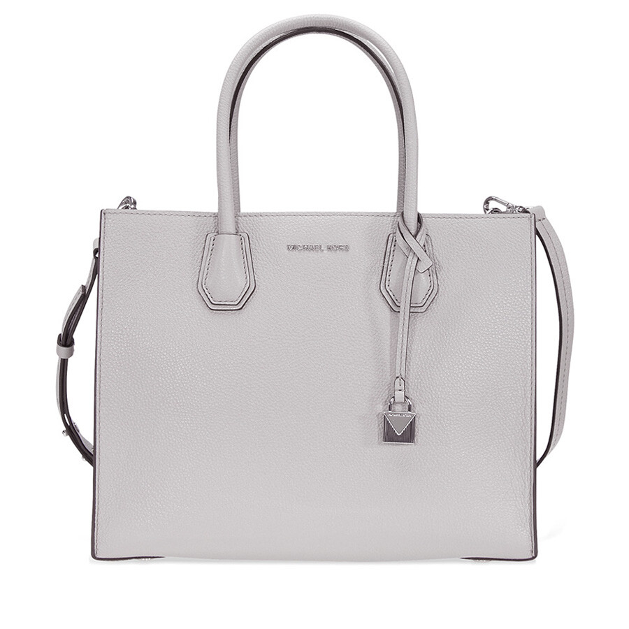 614ec888e95c79 Open Box - Michael Kors Mercer Large Bonded Leather Tote - Pearl Grey