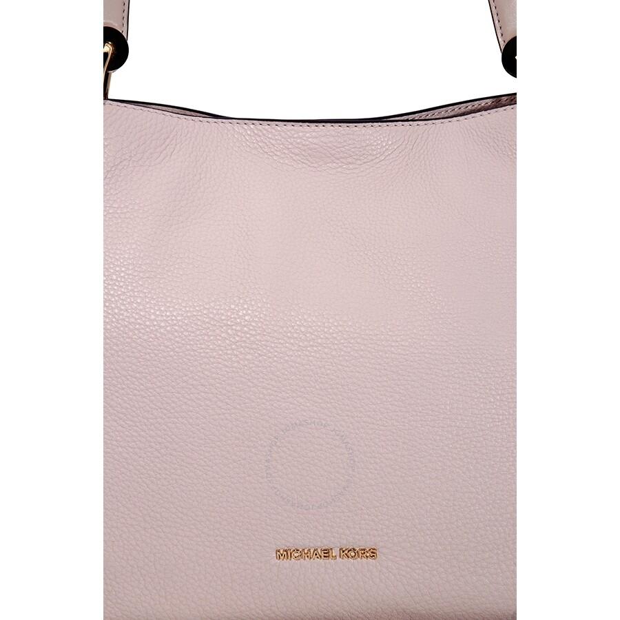 6783cfd0efbd Open Box - Michael Kors Raven Large Leather Shoulder Bag - Soft Pink ...