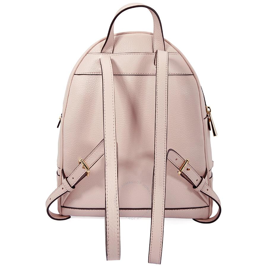 9e3c4ba7790146 Open Box - Michael Kors Rhea Medium Leather Backpack - Soft Pink ...