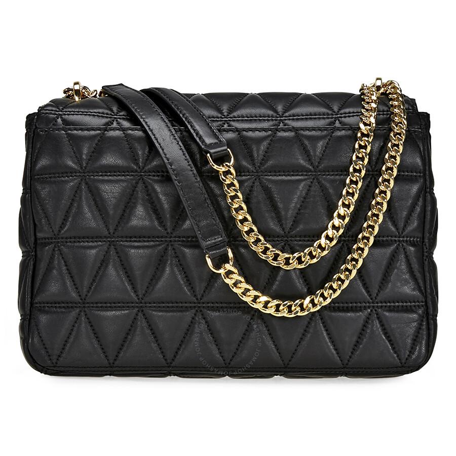 Open Box Michael Kors Sloan Extra Large Quilted Shoulder Bag Black