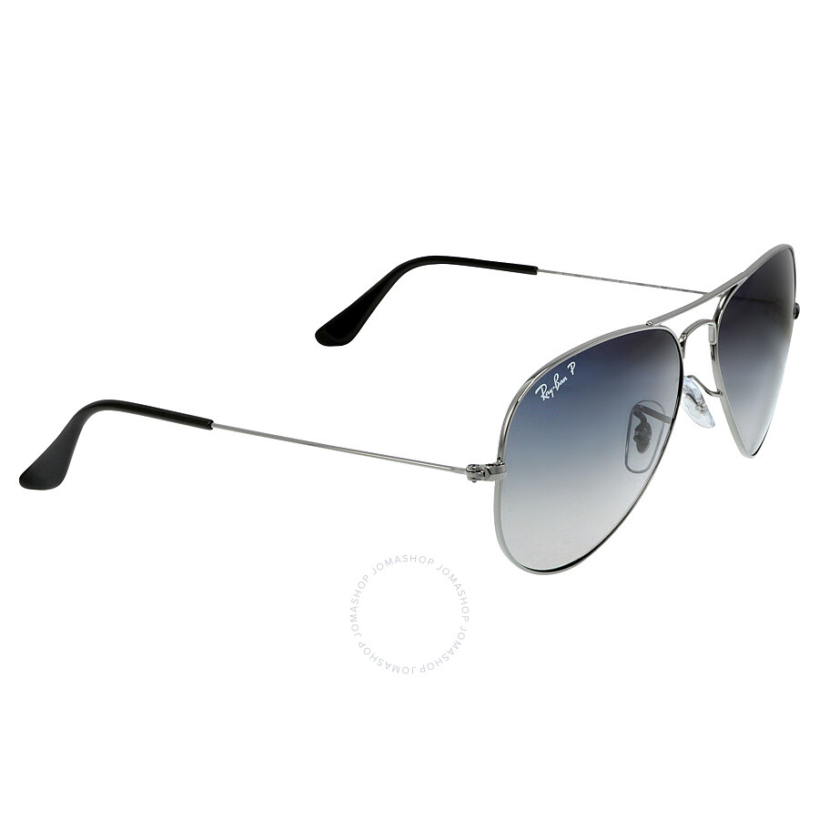 f4cf739e92254 ... Open Box - Ray Ban Aviator 58mm Sunglasses - Polarized Blue Grey  Gradient RB3025 004  ...