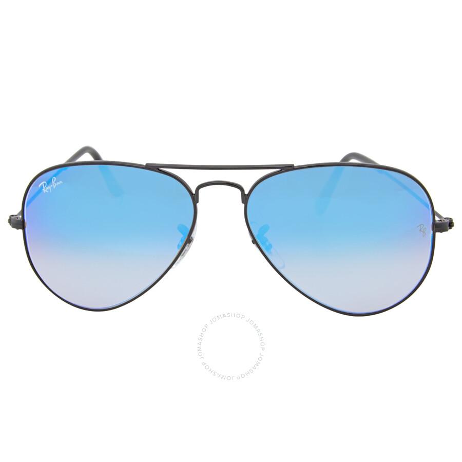 38362f3f3b Open Box - Ray Ban Aviator Blue Gradient Mirror Sunglasses RB3025 002 4O 55  ...