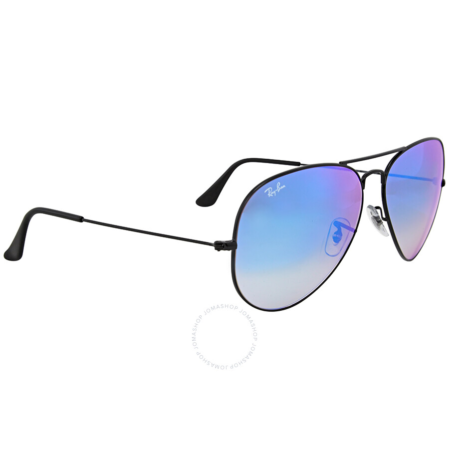 97ef11f6005 ... Open Box - Ray Ban Aviator Blue Gradient Mirror Sunglasses RB3025 002 4O  62