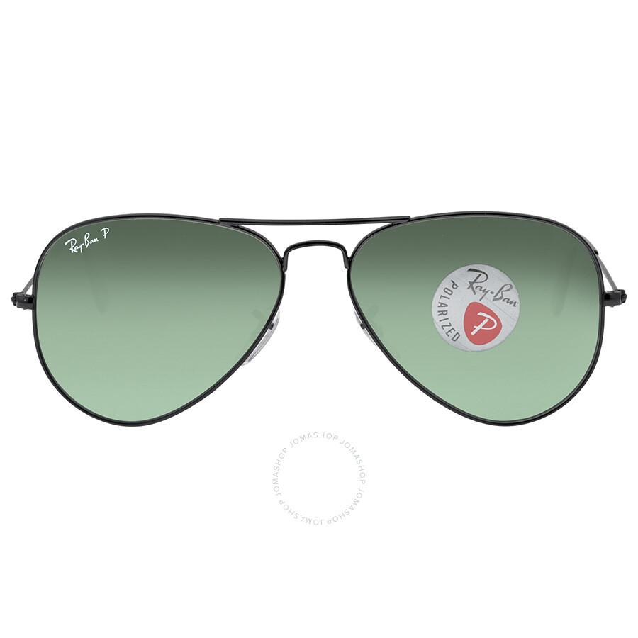 ab9733fda7 Open Box - Ray Ban Aviator Green Polarized Lens 58mm Men s Sunglasses  RB3025 002 58 ...